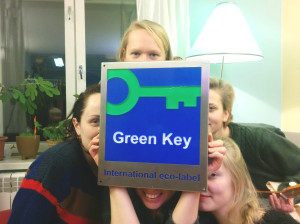 Green key and Looming Hostel staff