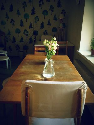 Dining Room In Looming Hostel, Tartu, Estonia